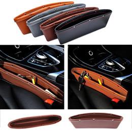Color Leather Bags Australia - Car Storage Bag Box Seat Pocket Organizer Car Seat Gap Pocket Catcher Organizer Leak-Proof Storage Box 4 color Available
