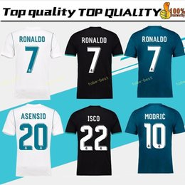 China Thailand Camisa Champion league Real madrid jersey 2018 RONALDO soccer jerseys 17 18 sergio ramos maillot BALE ASENSIO MODRIC football shirt supplier jersey soccer real suppliers