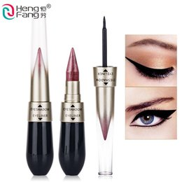 $enCountryForm.capitalKeyWord Canada - Makeup Professional 2 in 1 Eyes Kits Waterproof Shimmer Gold White Color Eyeliner Pencil Lot