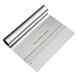 $enCountryForm.capitalKeyWord NZ - Stainless Steel Dough Pastry Cutter Flour Spatula Scraper Blade Tool Rice Rolls Slicer Knife Scale Baking Tools Kitchen Gadgets
