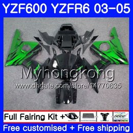 Yzf r6 fairing green online shopping - Body For YAMAHA YZF YZF R6 YZF R6 Green flames hot Bodywork HM YZF R YZF600 YZFR6 Fairings Kit
