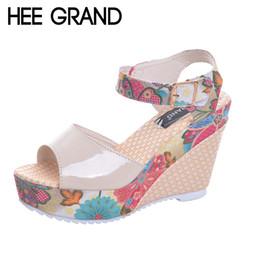 $enCountryForm.capitalKeyWord Canada - HEE GRAND Florral Print Wedges Heel Sandals Summer Shoes Woman Buckle Strap Platform Sandals XWZ2557