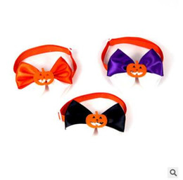 Discount dog rabbits - Halloween Dog Tie Adjustable Pet Grooming Accessories Rabbit Cat Dog Bow Tie Pumpkin Bowtie Pet Dog Puppy Lovely Decorat
