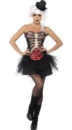 $enCountryForm.capitalKeyWord Canada - Sexy Women Zombie Cosplay Costumes Tube Top Shirt Mini Dress Skeleton Terror Halloween Carnival Masquerade Fancy Dress