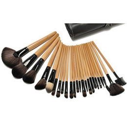 China 2018 hot item Makeup Brushes Set 24pcs Portable Full Cosmetic Make up Brushes Tool Foundation Eyeshadow Lip brush with Bag suppliers