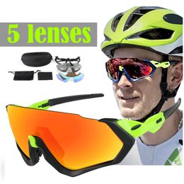 Bicycling Sunglasses NZ - 3 Lens Cycling Sunglasses Men Bicycle Glasses UV Protection Sport Running Polarized Unisex Cycling Goggles Polarized Wholesale