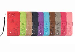 0fbea0e74198 Bling Diamond Flower Leather Wallet Case For Iphone XR XS MAX X 10 8 6S SE  5 5S Galaxy Note 9 S9 PU Butterfly Card Slot ID Phone Flip Cover