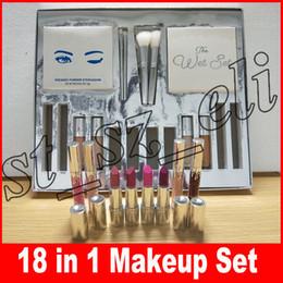 Silver makeup palette online shopping - Silver Series in Makeup Set Wet Set Blue Honey Palette Skin Concealer Lipstick Lip Gloss Make up Brushes