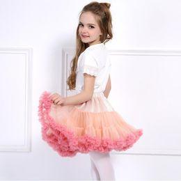 Cheap Tutus For Girls NZ - Baby Girls Tutu Skirt Fluffy Children Ballet Kids Pettiskirt Baby Girl Skirts Princess Tulle Party Dance Skirts For Girls Cheap
