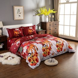 christmas santa bedding set polyester 3d printed duvet cover 2pcs pillowcases bed sheet set christmas bedroom decorations twin size - Christmas Sheets Twin