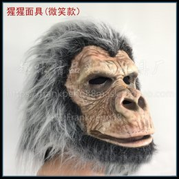 $enCountryForm.capitalKeyWord Canada - Funny Orangutan Mask Animal Head Mask Monkey Headwear Halloween Party Festival Cosplay Costume Full Face Party Supplies