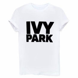 0d8ab65c0f372b IVY PARK Man Women T Shirt Letter Printing Female Cotton Casual Funny Loose  White Black Short Sleeves Tops Tees Hipster 11 66sf bb