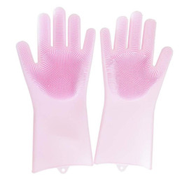 $enCountryForm.capitalKeyWord UK - Magic Silicone Brush Scrubber Gloves Heat Resistant for Dish Washing, Cleaning, Pet Hair Care