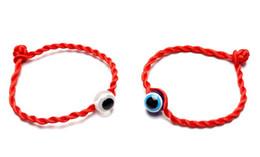 $enCountryForm.capitalKeyWord UK - New 50pcs lot LUCKY EYE Red String Bracelet EVIL Eye Jewelry Kabala red Good Luck Bracelet Protection for women men 20cm
