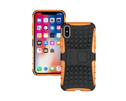 Hot Sales Iphone Case Australia - hot sale cell phone case full protection football veins tpu pc hybrid shockproof kickstand case for iphone X 7 8 plus