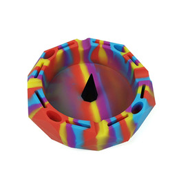 Silicone Premium AshTray w Glass Friendly Tapping Center Unbreakable Shatter   Heat Resistant up to 570°F! Holds cigarettes Blunts on Sale