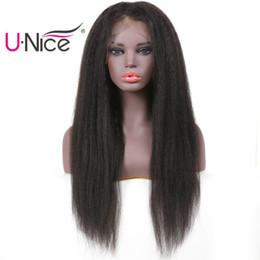 Perruque De Lacet De Cheveux Humains Yaki
