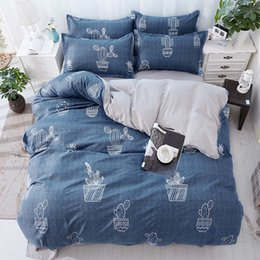 Red Modern Bedding NZ - Blue Cactus Duvet Cover Pillow Cases Single Twin Double Full Queen King Bedspreads Home Textiles Bed Linens 3PC Geometry Pink Dot Letters