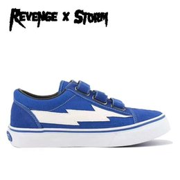 $enCountryForm.capitalKeyWord Australia - Revenge x Storm II Vol. 1 Low Top Blue Era Hook Straps Black Red Mens Womens Skate Shoes Ian Connor Kendall Jenner Casual Sneakers With Box