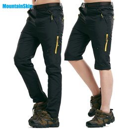 865cfadccd5 Mountainskin 5XL Men s Summer Quick Dry Soft Pants Outdoor Removable Shorts  Hiking Camping Trekking Climbing Male Trousers MA043 C18111501