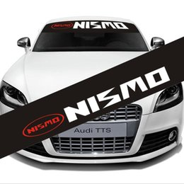 $enCountryForm.capitalKeyWord Canada - Custom Auto Car outer Body Decoration Reflect Car Front Windshield Decal Vinyl Sticker Auto Window Exterior for NISMO