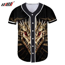 5fc2f2b4d dragon skull t shirts 2019 - UJWI New Arrivals Men 3d T-shirt Unisex Summer