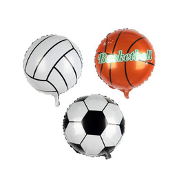 $enCountryForm.capitalKeyWord UK - Football Soccer Basketball Volleyball Aluminium Foil Balloon Inflatable Helium Ballons For Birthday Party Decoration 45*45cm ZA6555