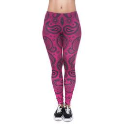 $enCountryForm.capitalKeyWord UK - Women Leggings Paisley Bandana Deep Pink 3D Graphic Print Lady Stretchy Yoga Wear Pants Gym Fitness Girls Workout Soft Trousers New (J40542)