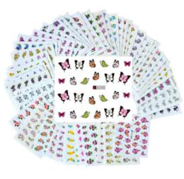 50 Feuilles Ensemble Fleur Mixte Transfert D'eau Nail Autocollants Stickers Art Conseils Décoration Autocollants De Manucure Ongles en Solde