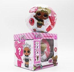 $enCountryForm.capitalKeyWord Australia - 3.95inch Glitter Series3 Doll Magic Egg Ball Action Figure Toy Kids Unpacking Dolls Girls Funny Dress Up gift Funko POP Free shipping zx023