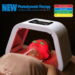 $enCountryForm.capitalKeyWord Australia - Korea Portable LED Light PDT LED Therapy Red Blue Green Yellow 4 Color Led Face Mask Light Phototherapy Lamp Machine For Skin Rejuvenation