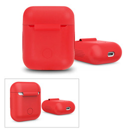 airpods case shockproof UK - Silicone Shockproof Carrying Case Cover Skin Sleeve Pouch Box for Airpods Wireless Earphone Headphone