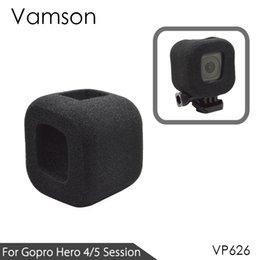 Venta al por mayor de Vamson para GoPro Hero 4 sesión / 5 sesiones Accesorios Pantalla de viento de espuma Anti ruido de viento Cubierta de parabrisas para gopro 4s / 5s VP626