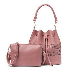 2018 Sales Promotions Classic Pattern Women Shoulder Bag Casual Tote Female  Bucket Vintage Handbag Hollow Strap Crossbody Bag 210797bd926b6