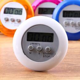 $enCountryForm.capitalKeyWord Australia - Digital Kitchen Timer Novelty Kitchen Helper Mini LCD Magnetic Digital Timer Kitchen Count Down Clip Timer Alarm Round Shape