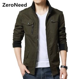 $enCountryForm.capitalKeyWord NZ - Cargo Jacket Man Casual Men Jackets Army Green Slim Brand Work Jackets Cotton Outerdoors Solid Color Overcoat Veste Homme 214 D18100802