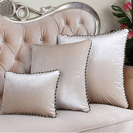 red velvet cushions Australia - High Quality Europe Luxury Cushion Cover Velvet Almofada cojines Decorative Pillows Solid Color Car Cover Candy Housse De Coussi