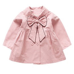 China May baby #5001Toddler Children Baby Girls Jacket Autumn Winter Jacket Bow Outerwear Tops Clothes infantil drop shopping cheap baby clothes shops suppliers