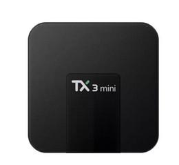 2018 встроенный мини-телевизор коробка 2 ГБ 16 ГБ S905W TX3 четырехъядерный Android 7.1 потокового ТВ коробки TX3-мини лучше Уди ТВ приставка Android