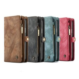 $enCountryForm.capitalKeyWord NZ - High quality designer phone case genuine leather wallet case for iPhone Xs max Xr Samsung S9 S9 plus note 9 with card slot and money bag
