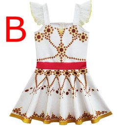 ballet style dresses Canada - INS Summer Kids Girls Suspender Dress Lace Wing Sleeve Polka Dot Printed Dresses Girl Ballet Dresses Children Ballerina Dancing dress 3-10T