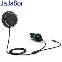 nfc charger 2019 - JaJaBor Bluetooth 4.0 Hands Free Car kit with NFC Function +3.5mm AUX Receiver Music Aux Speakerphone 2.1A USB Car Charg