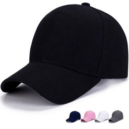 2018 Fashion pure color Baseball Caps 5 Colors Peaked Cap New Adjustable  Snapbacks Sport Hats Free Drop Shipping Mix Order b76c17329188