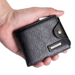 Mens billfold wallets online shopping - Mens Leather ID Card Holder Billfold Zip Purse Wallet Handbag Clutch Purse wallet men wallets easy to carry