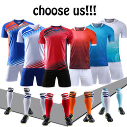 Soccer uniform kitS wholeSale online shopping - Welcome Custom jersey uniforms adult children s soccer suit kit personalized printed jerseys short sleeves shorts soccer practice team