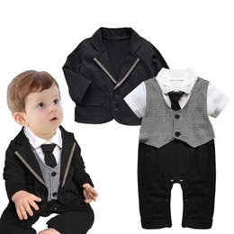 Cotton Tale Baby NZ - KIDS TALES 2018 new Spring and autumn hot style children's baby boy gentleman's suit jacket two suits