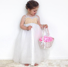 girls white sequin tutu UK - Ins Baby Girls Summer Dress Kids Lace Up Backless Lace Princess Dress Ball Gown Tutu Sequins Party Dress Chilren Clothing 13424