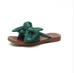 $enCountryForm.capitalKeyWord Canada - Summer Hot Sale Women Flip Flops Fashion Solid Color Bow tie Flat Heel Sandals Size 36-40 Outdoor Slipper Beach Shoes For Female