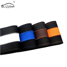 $enCountryForm.capitalKeyWord UK - Leisure Brush Color Top Leather handlebar braid Steering- Wheel DIY Very durable steering wheel cover skin