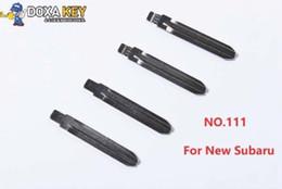 $enCountryForm.capitalKeyWord NZ - (10pcs) NO.111 Key Blade Flip Floding Blade Car key Blank For New Subaru Replacement
